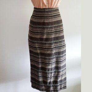 1990's Southwestern-Style Wool Wrap Skirt